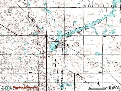 Rocklake topographic map