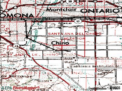 Chino topographic map