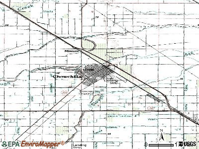Chowchilla topographic map