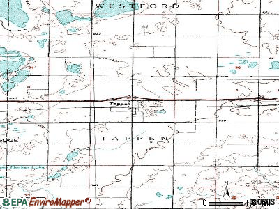 Tappen topographic map