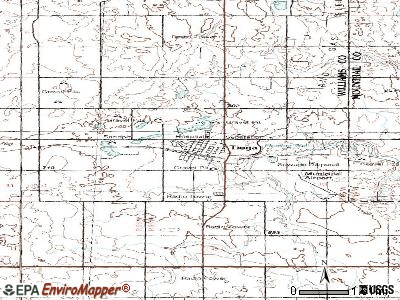 Tioga topographic map