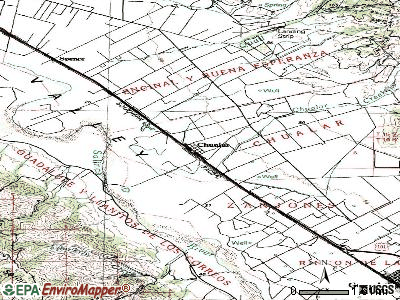 Chualar topographic map