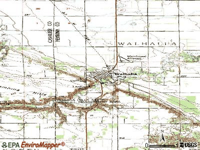 Walhalla topographic map