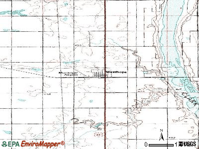 Westhope topographic map