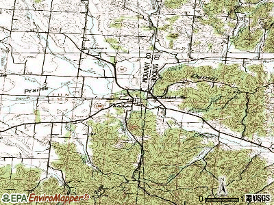Adelphi topographic map
