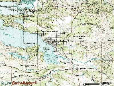 Clearlake topographic map
