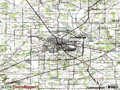 Ashland topographic map