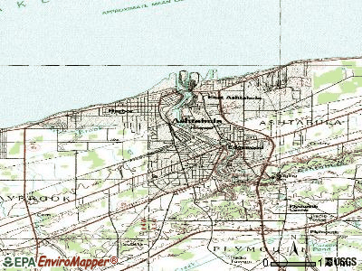 Ashtabula topographic map