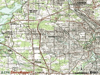 Austintown topographic map