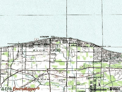 Avon Lake topographic map