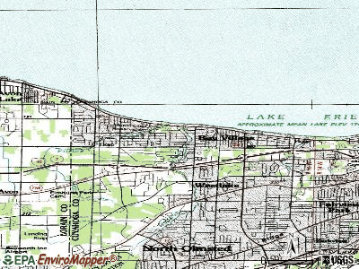 Bay Village topographic map