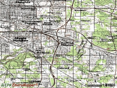 Bedford Heights topographic map