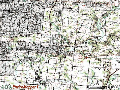 Bellbrook topographic map