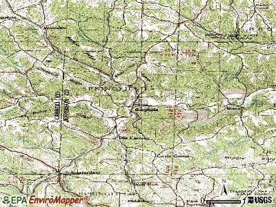 Bergholz topographic map