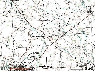Bloomingburg topographic map