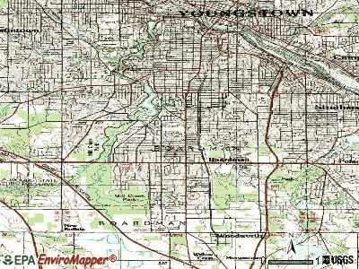Boardman topographic map