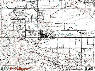 Coalinga topographic map