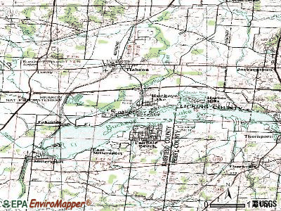 Buckeye Lake topographic map