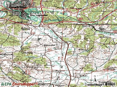Byesville topographic map