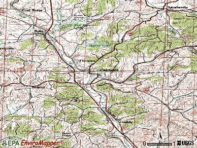 Caldwell topographic map