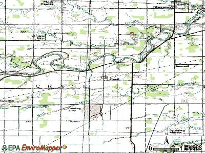 Cecil topographic map