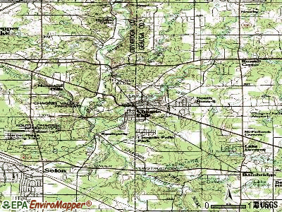 Chagrin Falls topographic map