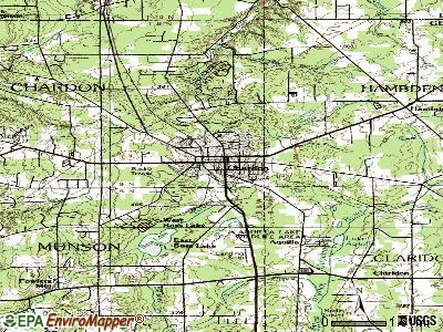 Chardon topographic map