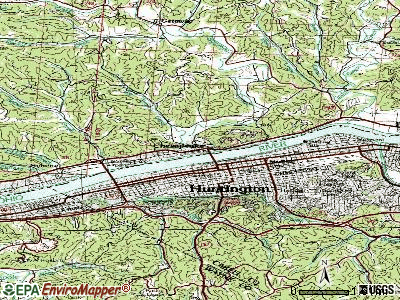 Chesapeake topographic map