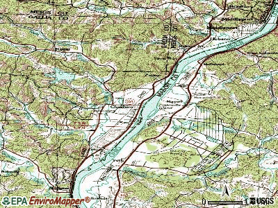 Cheshire topographic map