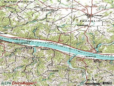Chilo topographic map