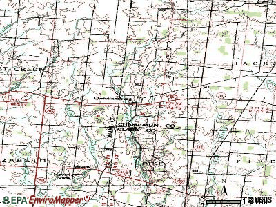 Christiansburg topographic map