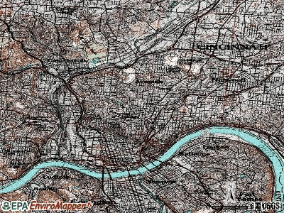 Cincinnati topographic map