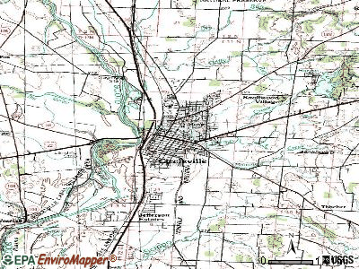 Circleville topographic map