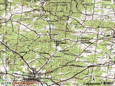 Coalton topographic map