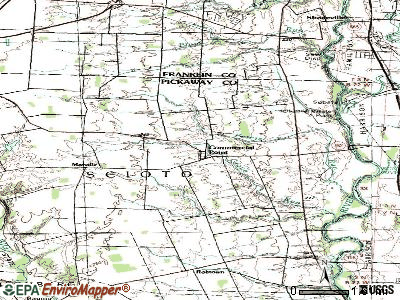Commercial Point topographic map
