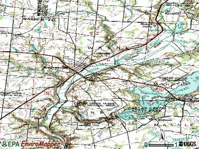 Corwin topographic map