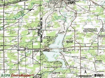 Craig Beach topographic map