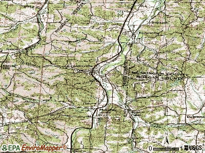 Crooksville topographic map