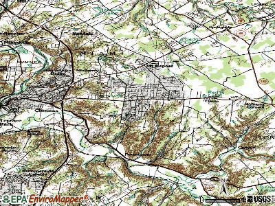 Day Heights topographic map