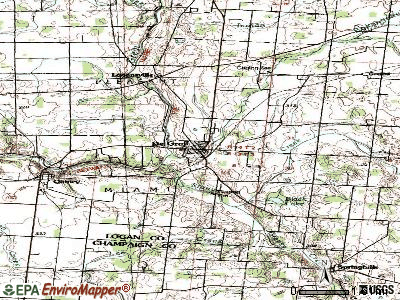 De Graff topographic map