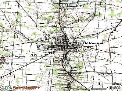 Delaware topographic map