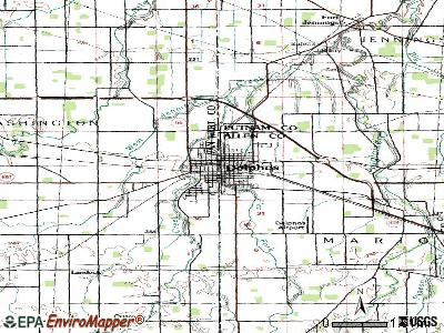 Delphos topographic map