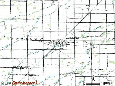 Deshler topographic map