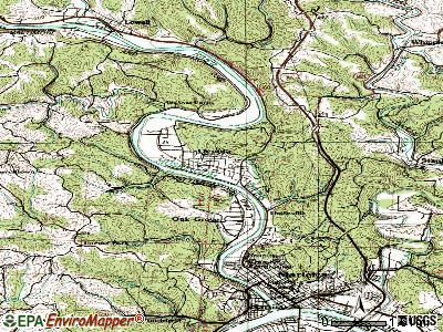 Devola topographic map
