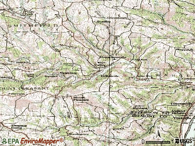 Dillonvale topographic map