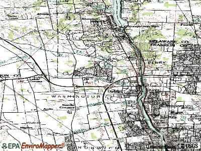 Dublin topographic map