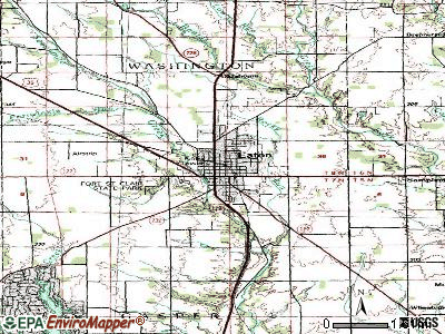 Eaton topographic map