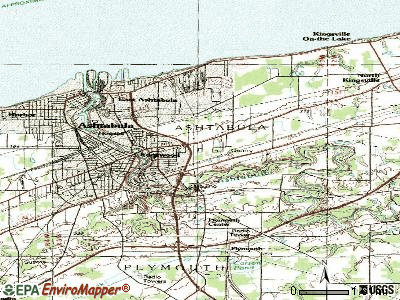 Edgewood topographic map