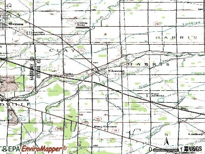 Elmore topographic map