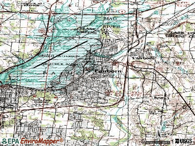 Fairborn topographic map